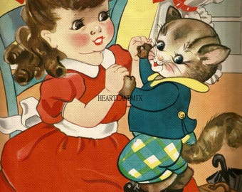 Vintage Digital Art Image Instant Download Printable Ruth E Newton