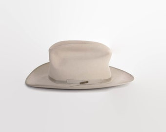 Vintage Stetson HAT / The Open Road Silverbelly 4X Western Cowboy Hat 7 1/4