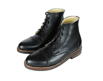 POE Brogue Boots. Cap Toe Ankle Boots. Goodyear Welted Boots. (All Men's and Women's sizes)