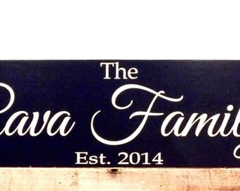 Personalized name sign - Wedding Date Sign - Family Name Sign - Anniversary Gift - Bridal Shower Gift
