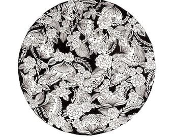 "Circle Patterned Art Print 8""x10"""