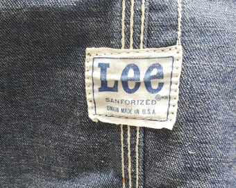 Vintage 1950's Lee Denim Chore Jacket // Workwear // Rockabilly  // Grease Monkey // Railroad // Original // Lee Buttons // Patch Pockets