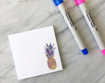 Cute Sticky Notes Pineapple Sticky Notes Colourful Sticky Notes Cute Notepad Pineapple Notepad Small Notepad Cute Stationery 50 Sheet Notes