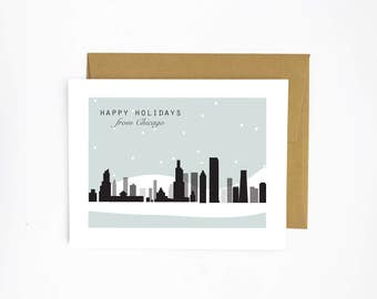 Happy Holidays from Chicago - holiday card