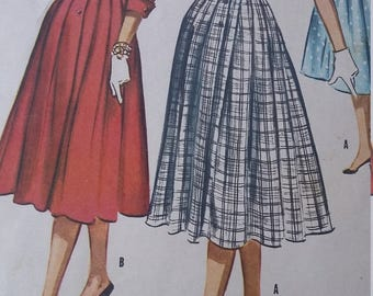 Vintage McCalls 3748 Sewing Pattern Size 16 Bust 36 One-Piece Dress