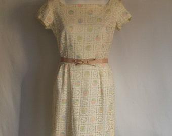 Vintage 1960s pencil dress