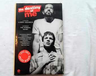 """Vintage Hardcover Play, """"The Destiny of Me"""" written by Larry Kramer."""