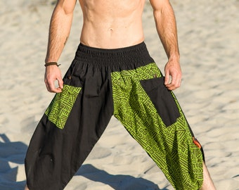Man pants, Black harem pants, Black yoga pants, Cotton pants for man, Burning man pants, Workout pants, Harem pants
