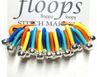 Choose size - FLOOPS - 20 knitting stitch markers - 'Holland'