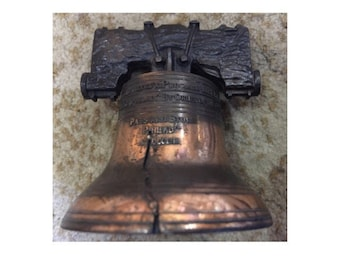 Vintage Copper Liberty Bell Souvenir from Philadelphia 1960s
