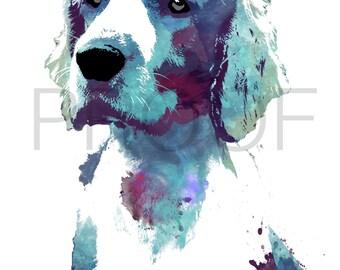 Welsh Springer Spaniel || Welshie || Minnie the Welsh || Dog Art || Watercolor Dog Art || Watercolor Dog || Spaniel Art || Spaniel