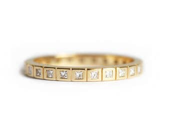 Eternity Wedding Ring, Princess Diamond Eternity Band, Princess Eternity Ring, Eternity Wedding Band, Diamond Wedding Band, Diamond Ring