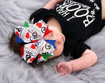 Support breastfeeding movement hair bow boutique hair bow girls hair bow baby hair bow normalize breastfeeding peace love breast feeding