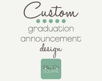 Printable Graduation Announcement Custom graduation announcement Graduation invitation High school graduation College graduation