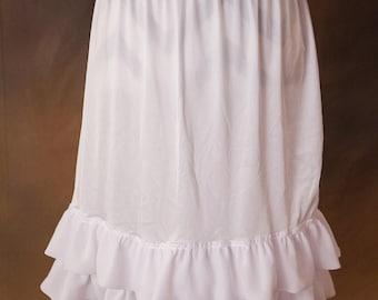 Double Layer Chiffon Dress/Skirt Extender, Slip Lengthener