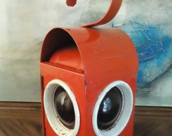 Vintage Chalwyn Lantern . Red Railroad Lantern . Made in England