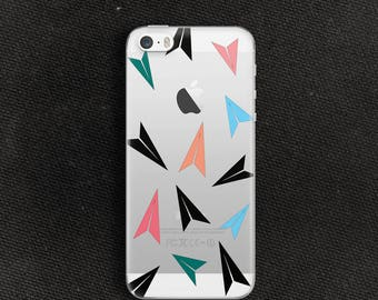 Novelty print case for iPhone se Case clear for iPhone 5 Case for iPhone 5s Slim case for iPhone Kawaii paper plane case for iPhone 4s