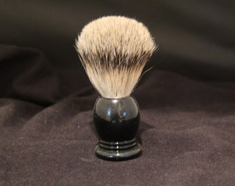Black Ebony Shaving Brush 20mm Best Badger Hair Large Shaving Brush made by Swamphouse Woodworks
