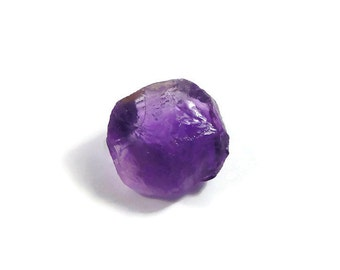 Raw Rough African Amethyst Top Facet Natural crystal purple Gemstone uncut 39.65 cts (T.02)