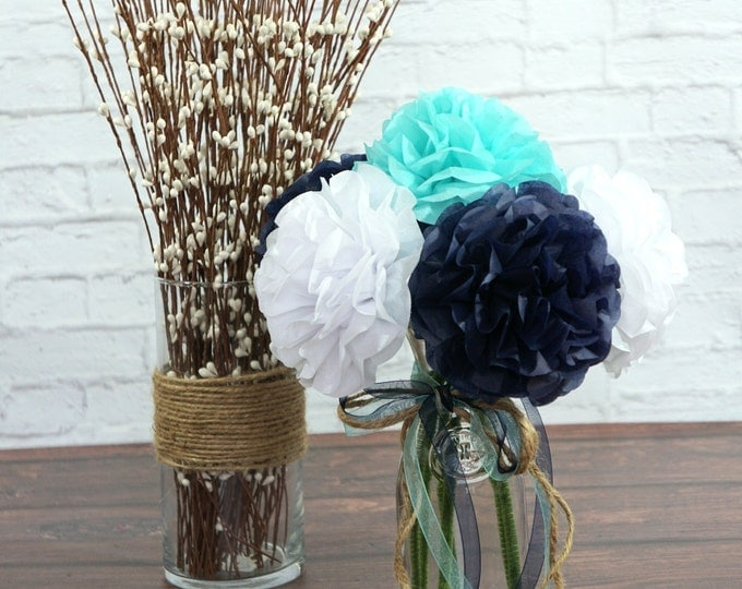 Tissue Paper Flower Bouquet (6 count)