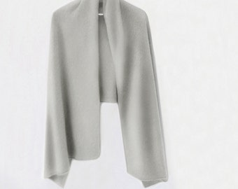 Long pure cashmere shawl / Ready to ship cashmere shawl / Pure cashmere scarf / Pure cashmere / Shawl / Scarf /Winter accessories/Light gray