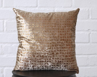 Velvet with Bronze Flecks Pillow