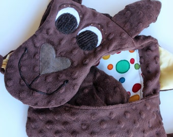Kangaroo Blanket Friend/ new baby gift/ baby shower gift/ security blankie