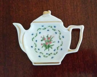 Raynaud Limoges Porcelain - Tea Bag Dish - Lafayette Pattern - Discontinued - France - Gift Favorite Tea Drinker