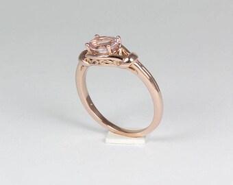 Natural Morganite Ring Rose Gold / Rose Gold Morganite Ring