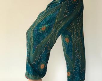 SM0070 Thai Genie Pants Comfy Trouser, Gypsy Pants Rayon Pants,Aladdin Pants Maxi Pants Boho Pants