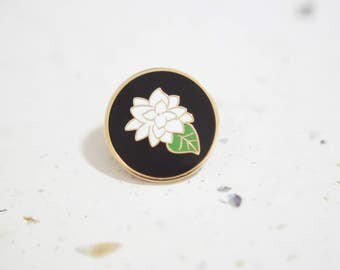 Sampaguita Jasmine Flower Enamel Pin // Hard Enamel - Enamel Pin - Pin - Lapel Pin - Flair - Brooch - Collar Pin - By Justine Gilbuena