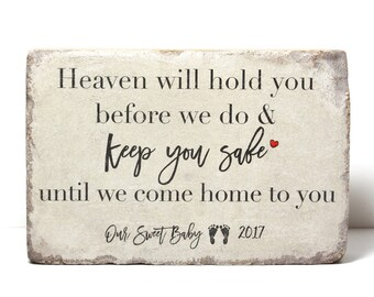 Memorial Stone. Indoor/ Outdoor Miscarriage Stillborn Memorial Gift. 6x9 Tumbled (Concrete) Paver. Baby Remembrance Stone. Infant Loss Gift