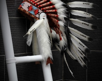 PRICE REDUCED X53 - Three colors Black and White indian Feather Headdress / native american Style