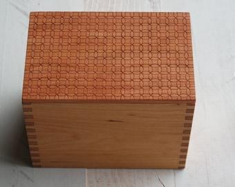 Custom Cherry Recipe Box with cards - Circle Design