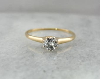 Antique Victorian Diamond Engagement Ring, Antique Engagement Ring, Victorian Diamond RingA4MY27-N