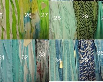 Green/Blue Ruffle Scarfs Group 3