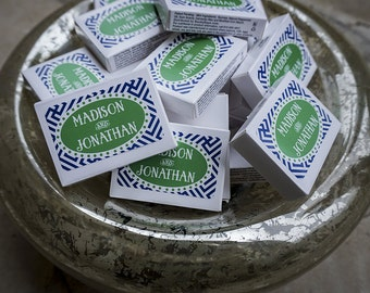 Personalized Mint Boxes, Wedding Party or Event Favors, Custom Mints, Monogrammed Favors, Edible Wedding Favors