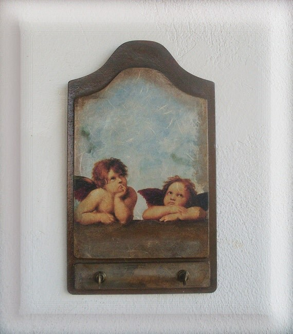 ANGELS - Wooden Key Holder