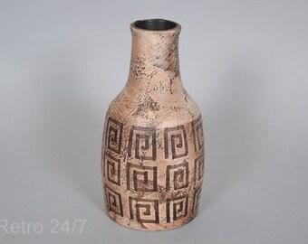 Ceramano  West German pottery vase - decor Minos - 117