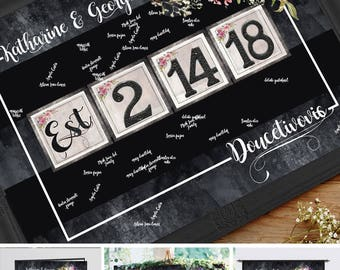 wedding guest book alternative personalized wedding gift for couple wedding guest book ideas wedding guestbooks wedding guest book sign