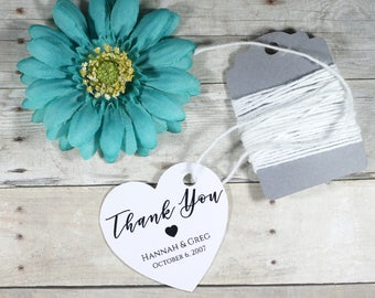 Heart Shaped Wedding Tags 20pc