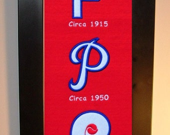 Philadelphia Phillies Heritage Team Banner....Framed