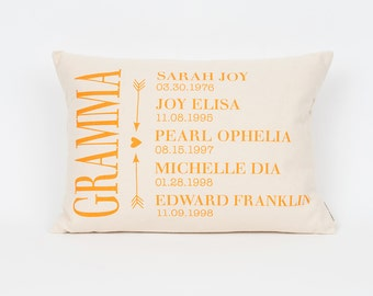 Grandkids Pillow, Gift for Grandma, Gift for Grandpa, Memaw Gift, Custom Pillow, Grandmother Gift, Nana Gift, Gift from Grandkids