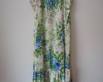 1970s Palm Island summer maxi dress M