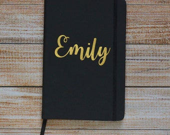 Personalised Premium Soft Touch lined A5 Notebook Journal