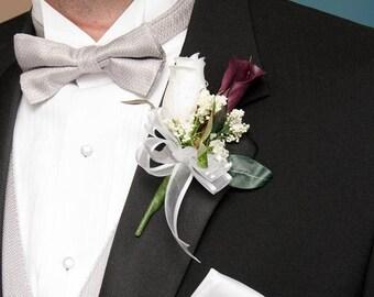CUSTOM Boutonniere Calla Lily Wedding Father Grandfather