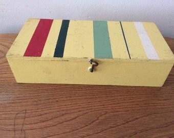 Vintage Colorful Wood Box