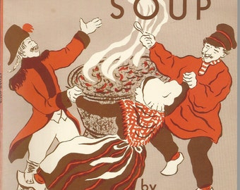 Stone Soup Vintage Softcover with Original Illustrations by Marcia Brown story of soldiers and villagers