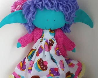 Cup Cake Pixie Rag doll