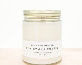 CHRISTMAS FOREST Candle, Fall Candle, Autumn Candle, Winter Candle, Christmas Candle, Pine Candle, Balsam Candle, Cedar Candle, Soy Candle